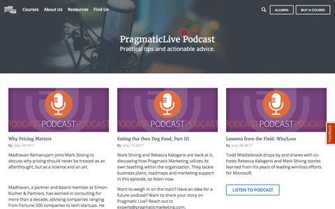 Pragmatic Live Podcast Series