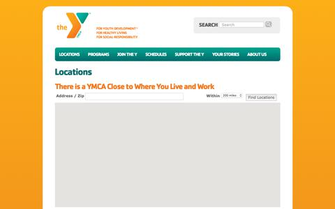 Screenshot of Contact Page Locations Page fcymca.org - Locations - First Coast YMCA - captured Dec. 16, 2018