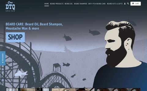Screenshot of Home Page onedtq.com - Best beard care products: beard oil, beard shampoo, moustache wax - captured Aug. 30, 2015