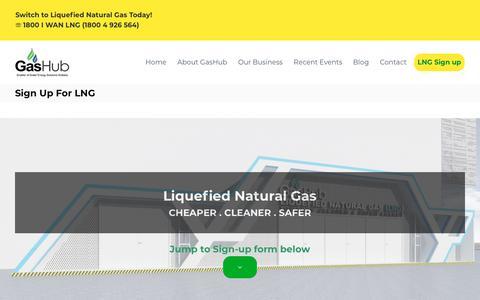 Screenshot of Signup Page gashub.com.sg - Sign Up For LNG – GasHub - captured Sept. 27, 2018