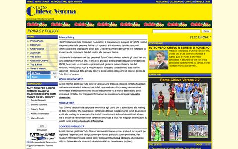 Screenshot of Privacy Page tuttochievoverona.it - Privacy Policy - captured Sept. 30, 2018
