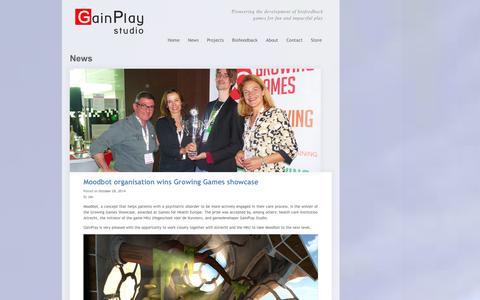 Screenshot of Press Page gainplaystudio.com - News GainPlay Studio - captured Oct. 29, 2014