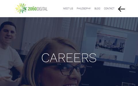 Screenshot of Jobs Page 2060digital.com - Careers - 2060 Digital - captured Aug. 11, 2016