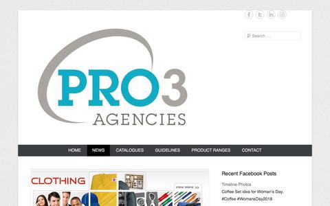Screenshot of Press Page pro3agencies.co.za - News | Pro3 Agencies - captured July 22, 2018