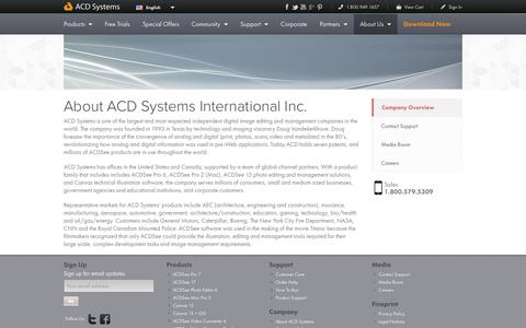 Screenshot of About Page acdsee.com - About - ACD Systems - captured Sept. 18, 2014