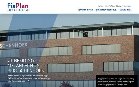 Screenshot of Home Page fixplan.nl - FixPlan Bouw en Onderhoud - captured Oct. 10, 2018