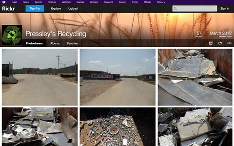 Screenshot of Flickr Page flickr.com - Flickr: Pressley's Recycling's Photostream - captured Oct. 22, 2014
