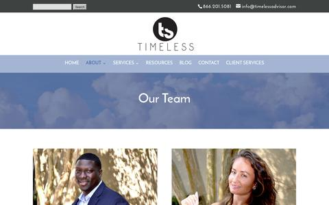 Screenshot of Team Page timelessadvisor.com - TEAM   Team Timeless Financial - captured May 1, 2017
