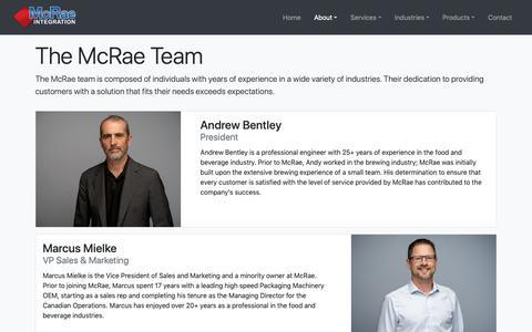 Screenshot of Team Page mcraeintegration.com - Team | McRae Integration - captured Oct. 17, 2018