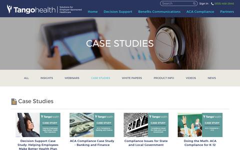 Screenshot of Case Studies Page tangohealth.com - Case Studies Archives - Tango Health : Tango Health - captured Oct. 29, 2017