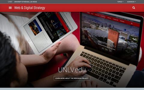 Web & Digital Strategy | Web & Digital Strategy | University of Nevada, Las Vegas