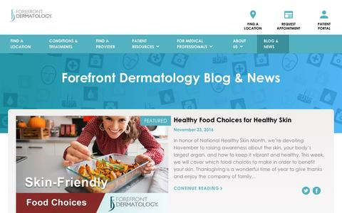 Screenshot of Blog forefrontdermatology.com - Blog Archives | Forefront Dermatology - captured Nov. 24, 2016