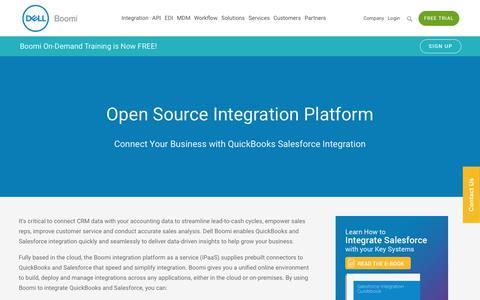 QuickBooks Salesforce Integration - Dell Boomi