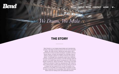 Screenshot of About Page bendgoods.com - We Dream, We Make – Bend Store - captured Nov. 22, 2016