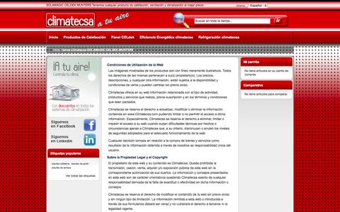 Screenshot of Terms Page climatecsa.com - terms-climatecsa-SOLAMAGIC-CELDEK-MUNTERS - captured Sept. 26, 2014