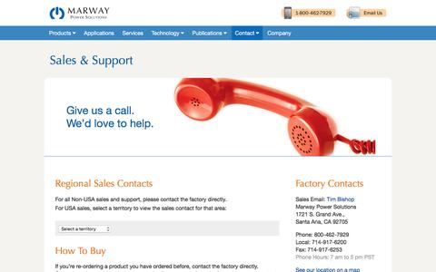 Screenshot of Terms Page marway.com - Marway Contacts - captured Feb. 12, 2016