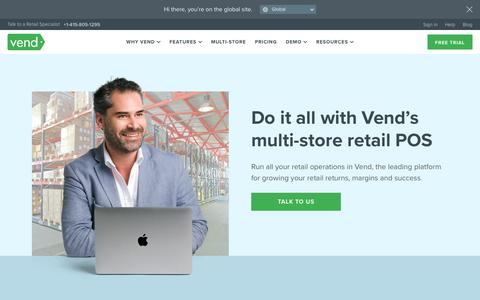 Multi-store Retail POS System | Scale your business with Vend POS | Vend