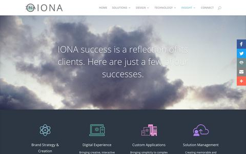 Screenshot of Case Studies Page ionainteractive.com - CASE STUDIES - IONA - captured Sept. 27, 2018