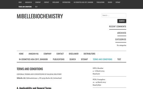 Terms and Conditions – Mibellebiochemistry
