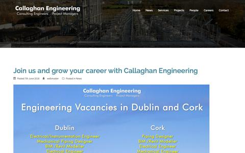 Screenshot of Press Page calleng.ie - News   Callaghan Engineering - captured Sept. 26, 2018