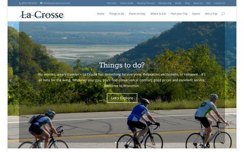 Screenshot of Press Page explorelacrosse.com - Home - Explore La Crosse - captured Oct. 1, 2014