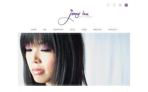 Screenshot of Home Page jcluu.com - home » Jenny Luu Hair + Makeup - captured Feb. 11, 2016