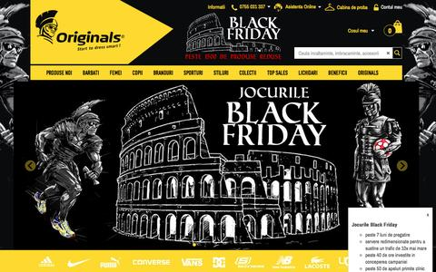 Screenshot of Home Page originals.ro - Jocurile Black Friday - Originals - Start to dress smart - captured Nov. 18, 2016