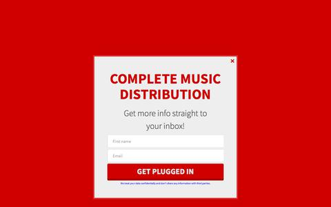 Screenshot of Services Page sugomusic.com - Music Distribution Services - captured Oct. 26, 2017