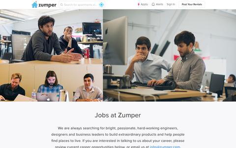 Screenshot of Jobs Page zumper.com - Jobs - Zumper - captured April 23, 2016