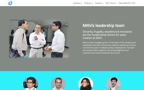 Screenshot of Team Page mithi.com - Meet the Mithi team - Mithi - captured Feb. 13, 2019