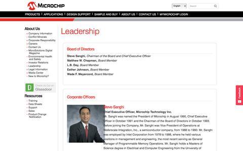 Screenshot of Team Page microchip.com - Leadership | Microchip Technology Inc. | Microchip Technology Inc. - captured Jan. 10, 2018