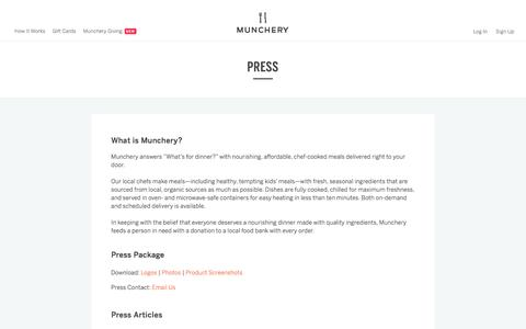 Press | Munchery