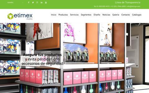 Screenshot of Home Page etisign.com - Etisign   Innovación en Retail y Punto de Venta - captured March 15, 2018