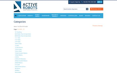 Screenshot of Site Map Page active-robots.com - Site Map - captured July 28, 2018