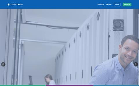 Screenshot of Home Page colortokens.com - Simplify Digital Transformation., Eliminate Security Concerns - captured May 14, 2018