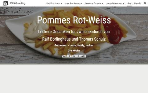Screenshot of Blog google.com - BORA Consulting - Blog - captured Oct. 29, 2018