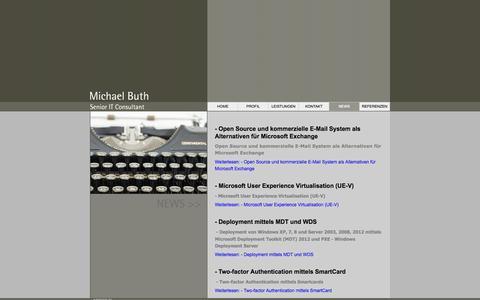 Screenshot of Press Page mbuth.de - News - captured Oct. 27, 2014
