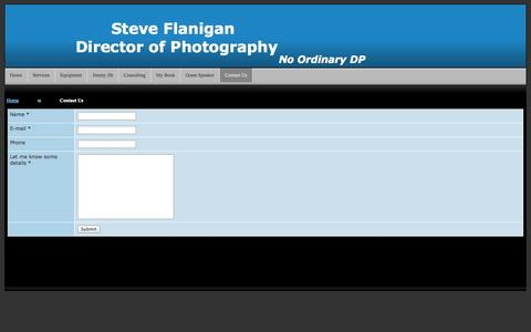 Screenshot of Contact Page dpsteveflanigan.com - www.DPsteveflanigan.com - captured Oct. 7, 2014