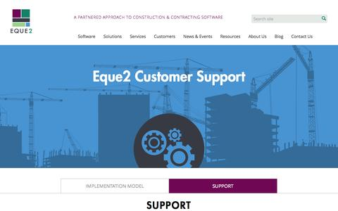 Screenshot of Support Page eque2.co.uk - Support | Eque2 - captured Oct. 22, 2014