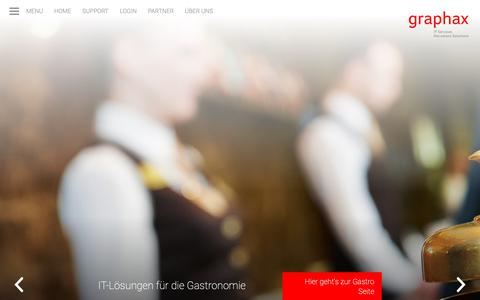 Screenshot of Home Page graphax.ch - Graphax IT Services Document Solutions: Graphax - captured Sept. 30, 2018