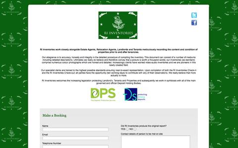 Screenshot of Home Page riinventories.com - RI Inventories - captured Oct. 7, 2014