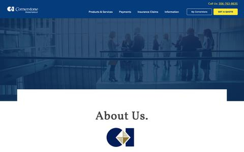 Screenshot of About Page cornerstoneinsurance.ca - About Cornerstone Insurance | All Canadian Insurance Brokers - captured Sept. 29, 2018