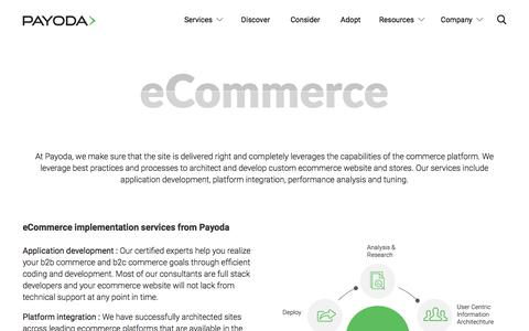 Screenshot of Services Page payoda.com - E-commerce - captured Sept. 20, 2018