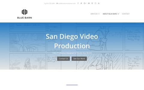 Screenshot of Case Studies Page bluebarncreative.com - San Diego - Blue Barn Creative - captured July 27, 2019