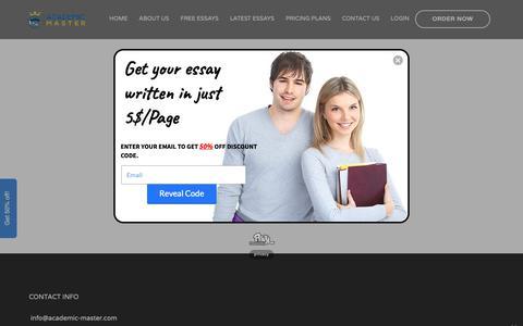 Screenshot of Login Page academic-master.com - 1 new message - captured June 13, 2019