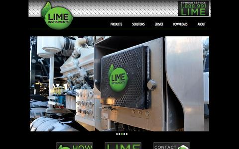 Screenshot of Home Page limeinst.net - Lime Instruments » - captured Oct. 2, 2014