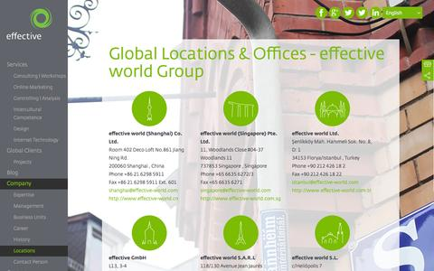 Screenshot of Locations Page effective-world.com - Global Locations - effective world Group - captured Nov. 5, 2014