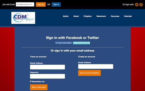 Screenshot of Login Page nationbuilder.com - Sign in - captured Sept. 28, 2015