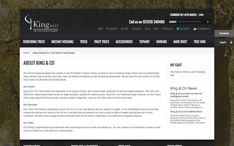 Screenshot of About Page kingco.co.uk - About King & Co | The Online Tree Nursery - captured Oct. 6, 2014