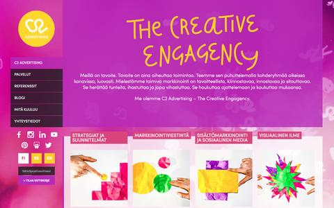 Screenshot of Home Page c2.fi - C2 Advertising - The Creative Engagency - captured Jan. 23, 2016
